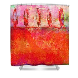Tuscan Trees In Vivid Color Shower Curtain