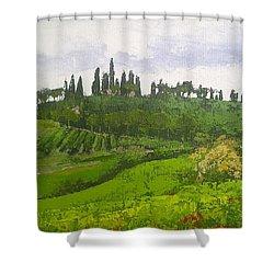 Tuscan Villa Hillside Shower Curtain