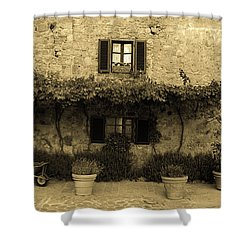 Shower Curtain featuring the photograph Tuscan Village by Frank Stallone