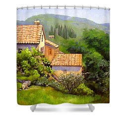 Tuscan Village Memories Shower Curtain by Chris Hobel