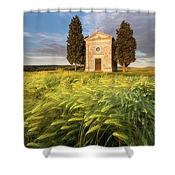 Tuscany Chapel Shower Curtain by Evgeni Dinev