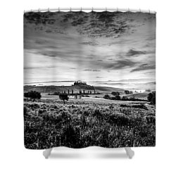 Tuscany In Bw Shower Curtain