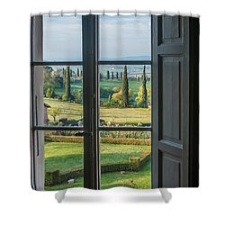 Tuscany Out My Window Shower Curtain