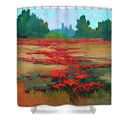 Tuscany Poppy Field Shower Curtain by Diane McClary