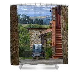 Tuscany Scooter Shower Curtain