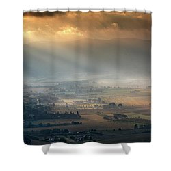 Tuscany Valley  Shower Curtain