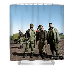 Shower Curtain featuring the photograph Tuskegee Airmen by Granger