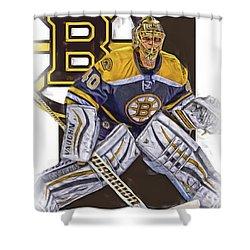Tuukka Rask Boston Bruins Oil Art 1 Shower Curtain