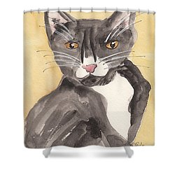 Tuxedo Cat With Attitude Shower Curtain