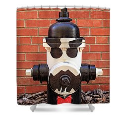 Tuxedo Hydrant Shower Curtain by James Eddy