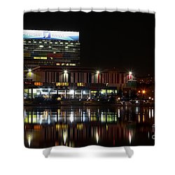 Tv Center Shower Curtain