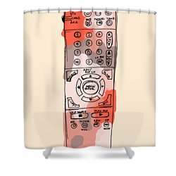 tv remote I Shower Curtain