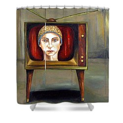 Tv Series 1 Shower Curtain by Leah Saulnier The Painting Maniac