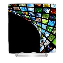 Tv Warp Wall Shower Curtain