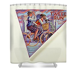 Tweed Run London Princess And Guvnor  Shower Curtain by Mark Jones