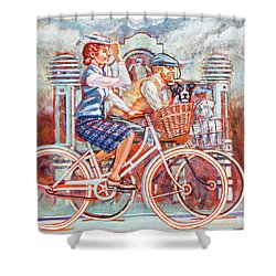 Tweed Runners On Pashleys Shower Curtain