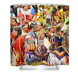 Tweens At Grand Entry Shower Curtain by Clarice  Lakota