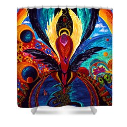 Shower Curtain featuring the painting Captive Angel by Marina Petro