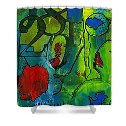 Twenty-eight Shower Curtain by Angela L Walker