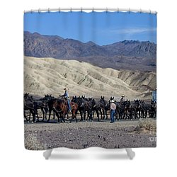 Shower Curtain featuring the photograph Twenty Mule Teams by Ivete Basso Photography