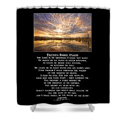 Twenty-third Psalm Prayer Shower Curtain