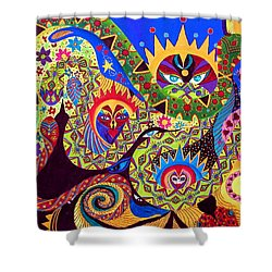 Shower Curtain featuring the painting Serpent's Dance by Marina Petro
