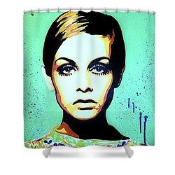 Twiggy  Shower Curtain by Grant Swinney