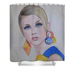 Twiggy The 60's Fashion Icon Shower Curtain