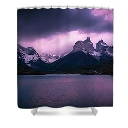 Twilight Over The Lake Shower Curtain by Andrew Matwijec