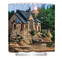 Twilight At Chapel On The Rock Shower Curtain by Juli Ellen