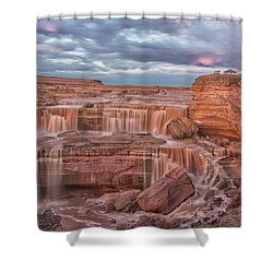 Twilight At Chocolate Falls Shower Curtain