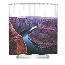 Twilight At Horseshoe Bend Shower Curtain by JR Photography
