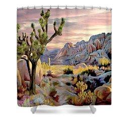 Twilight At Joshua   Vert. Shower Curtain
