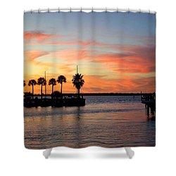 Twilight At The Marina Shower Curtain
