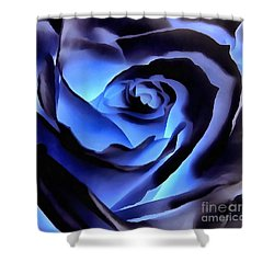 Twilight Blue Rose  Shower Curtain