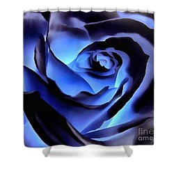 Twilight Blue Rose  Shower Curtain by Janine Riley