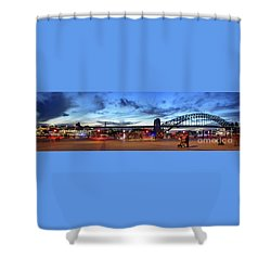 Shower Curtain featuring the photograph Twilight By The Bridge By Kaye Menner by Kaye Menner