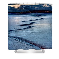 Twilight, Conwy Estuary Shower Curtain