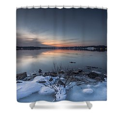 Shower Curtain featuring the photograph Twilight by Edward Kreis