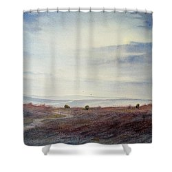 Twilight Settles On The Moors Shower Curtain