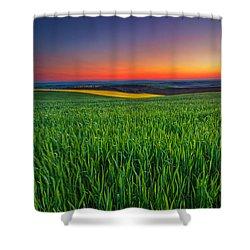 Twilight Fields Shower Curtain by Evgeni Dinev