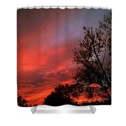 Twilight Fire Shower Curtain