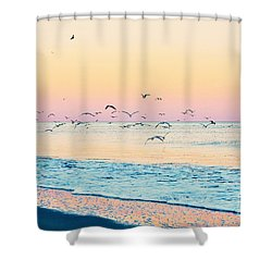 Shower Curtain featuring the photograph Twilight Flight by Kelly Nowak