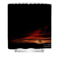 Twilight Glow Shower Curtain