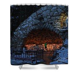 Twilight Grotto Prayer Shower Curtain