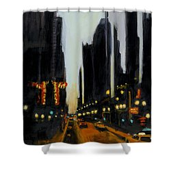 Twilight In Chicago Shower Curtain