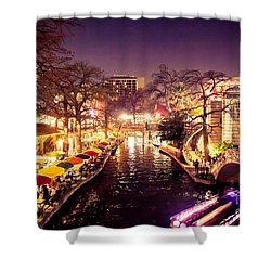 Twilight In The Riverwalk Shower Curtain
