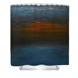 Shower Curtain featuring the painting Twilight by Jane See