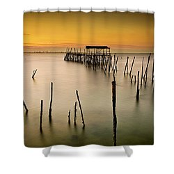 Shower Curtain featuring the photograph Twilight by Jorge Maia