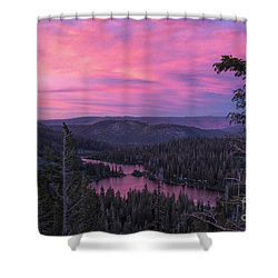 Twilight Mammoth Lakes  Shower Curtain
